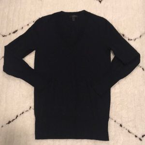 J crew Merino V-neck Sweater Navy